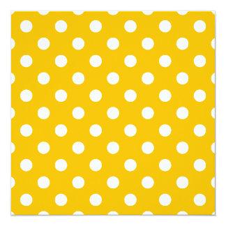 Tupfen - Weiß auf Bernstein Quadratische 13,3 Cm Einladungskarte