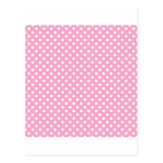 Tupfen - Weiß auf Gartennelken-Rosa Postkarte