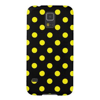 Tupfen - Zitrone auf Schwarzem Samsung S5 Cover