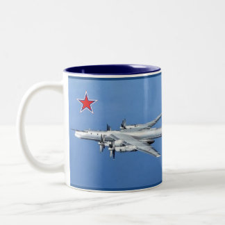 "Tupolev 95"" Bärn-"" Bomber-Tasse Zweifarbige Tasse"