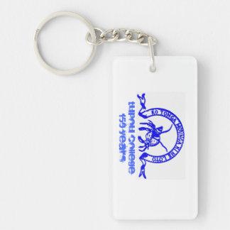 Tupou Uni-Schlüsselring Einseitiger Rechteckiger Acryl Schlüsselanhänger