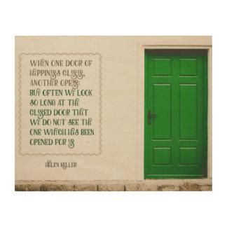 Tür des Glückes Holzleinwand