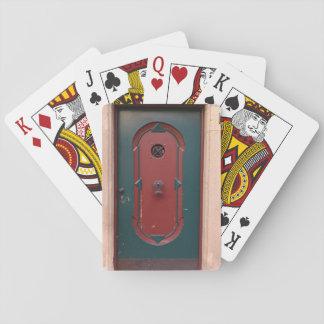 Tür-Foto-klassische Spielkarten