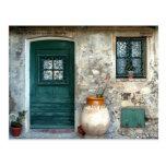 Tür in Cagnes sur Mer, Frankreich,… Postkarte