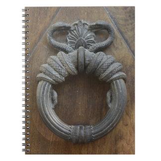 Tür-Klopfer Spiral Notizblock