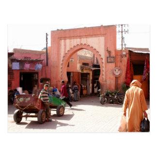 Tür Marrakeschs Medina Postkarte