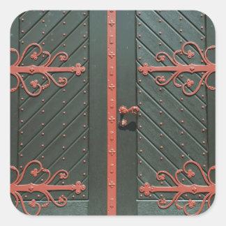 Tür Quadratischer Aufkleber