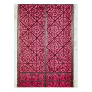Tür vom Chor von Rouen-Kathedrale Postkarte