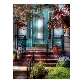 Tür - Wohnung Postkarte