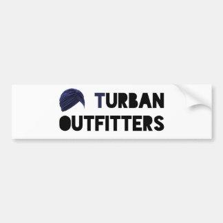Turban-Ausstatter kranker Autoaufkleber