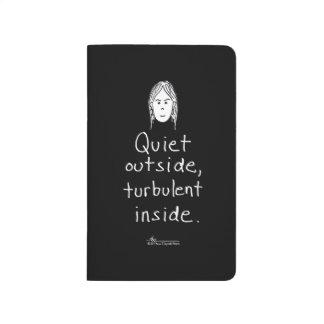 Turbulente innere schwarze Taschen-Zeitschrift Taschennotizbuch