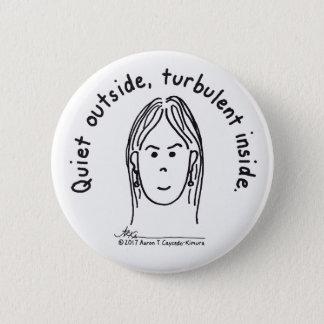 Turbulenter Innere-Weiß-Knopf Runder Button 5,7 Cm