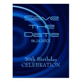 Turbulenz-50. Geburtstags-Save the Date - Postkarten