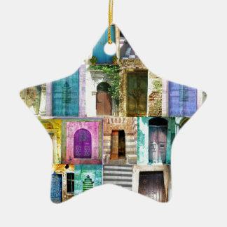 Türen und Windows aus der ganzen Welt Keramik Stern-Ornament