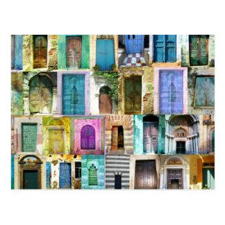 Türen und Windows aus der ganzen Welt Postkarte