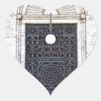 Türgitter der Sultan-Ali-Moschee in Kairo Herz-Aufkleber