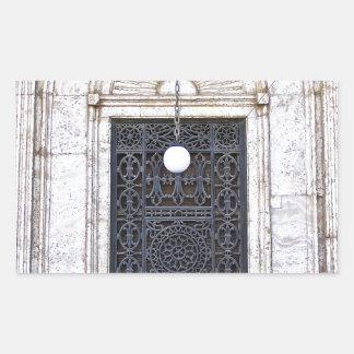 Türgitter der Sultan-Ali-Moschee in Kairo Rechteckiger Aufkleber