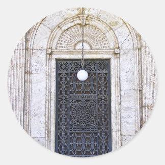 Türgitter der Sultan-Ali-Moschee in Kairo Runder Aufkleber