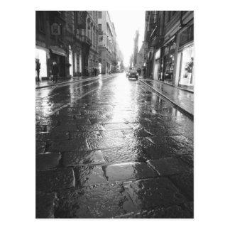Turin Italien, nasser Straßen-Abend Postkarte