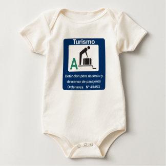 Turist Endpunkt, Verkehrszeichen, Argentinien Baby Strampler