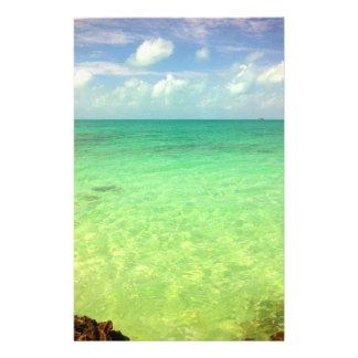 Türken des Aqua-grüne Ozean-| und Caicos-Foto 14 X 21,6 Cm Flyer