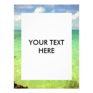 Türken des Aqua-grüne Ozean-| und Caicos-Foto 21,6 X 27,9 Cm Flyer