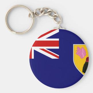 Türken und Caicos-Flagge Schlüsselanhänger