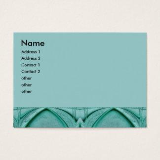 Türkis abstrakt Jumbo-Visitenkarten