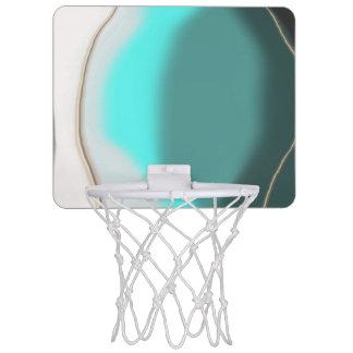 Türkis abstrakt mini basketball ring