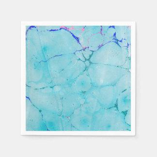 Türkis-aquamarine Marmorfarbeabstrakter Watercolor Serviette