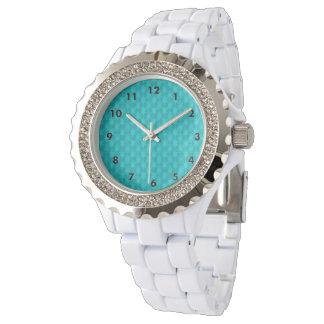 Türkis-aquamarine Sterne Armbanduhr