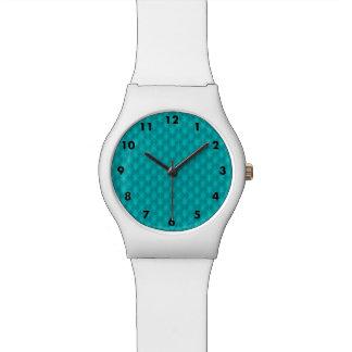 Türkis-aquamarine Sterne Uhr
