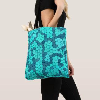 Türkis-aquamarines blaues Muster Tasche