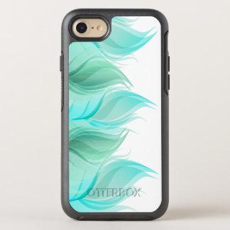 Türkis-Aquarell-Federn OtterBox Symmetry iPhone 8/7 Hülle