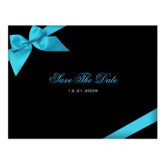 Türkis-Band-Hochzeits-Einladung Save the Date
