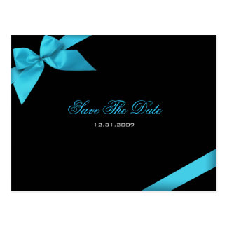 Türkis-Band-Hochzeits-Einladung Save the Date Postkarten