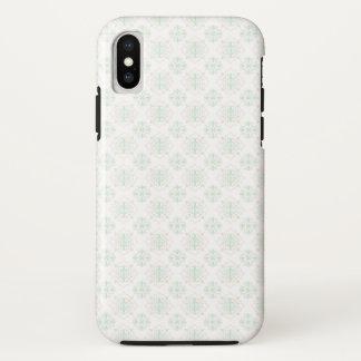 Türkis-barocker königlicher Damast iPhone X Hülle