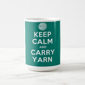 Türkis behalten ruhig und tragen Garn Kaffeetasse