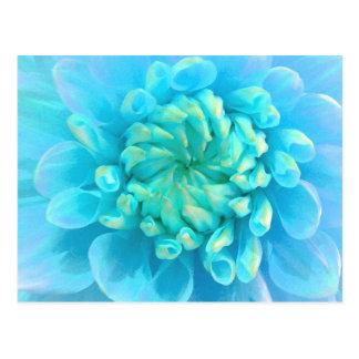 Türkis-Blau-Blume im Watercolor Postkarte