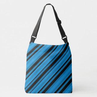 Türkis-Blau-gestreifte Schulter-Taschen-Tasche Tragetaschen Mit Langen Trägern