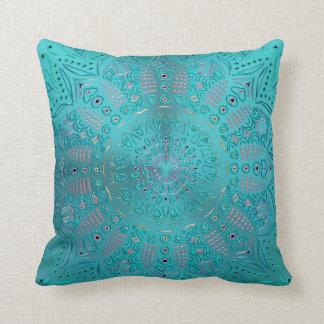 Türkis-Blau-Mandala Kissen