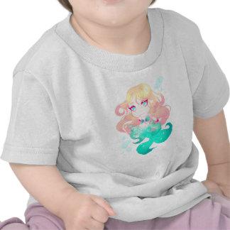 Türkis-Blau-Meerjungfrau Baby T-shirt