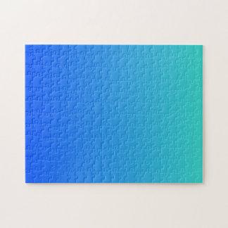 Türkis-Blau Ombre Puzzle