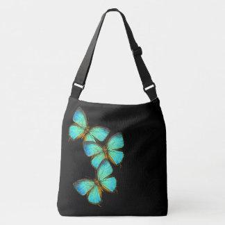 Türkis-Blau-Schmetterlings-Tier-Taschen-Tasche Tragetaschen Mit Langen Trägern