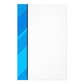Türkis-blaue Streifen-Briefpapier Briefpapier
