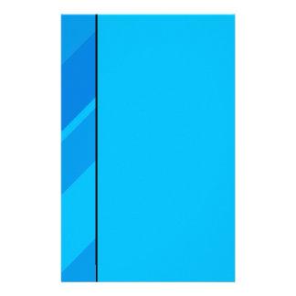 Türkis-blaue Streifen-Büttenpapier-Briefpapier Briefpapier