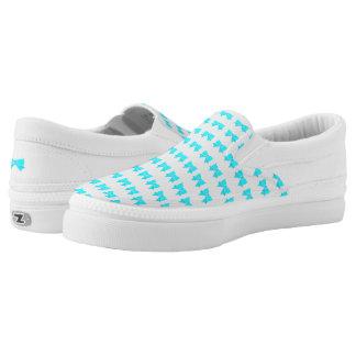 Türkis-Bogen-Muster Slip-On Sneaker
