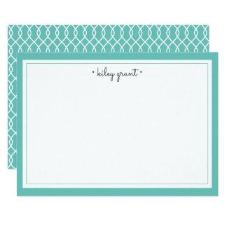 Türkis der personalisiertes Briefpapier-flacher 12,7 X 17,8 Cm Einladungskarte