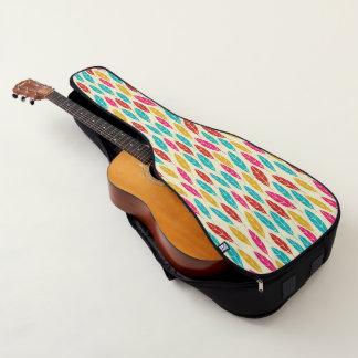Türkis des gelben Grüns des Herbstes verlässt Gitarrentasche