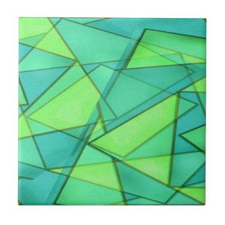 Türkis-Dreieck-Muster Fliese